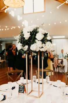 White Flower Tall Centerpieces