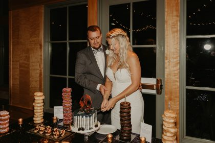 Cake Cutting Pastry Works with donut towers