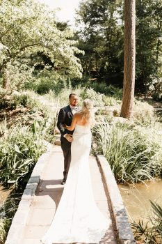 Duke Gardens Durham NC Wedding First Look