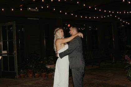 Private Newlyweds Dance at End of Reception