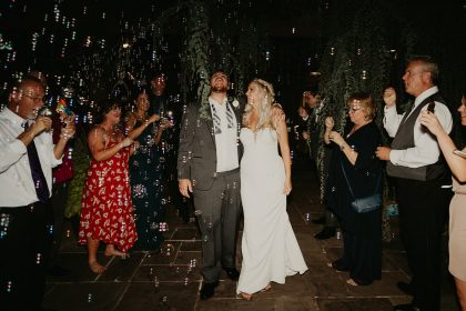 Newlyweds Bubble Exit