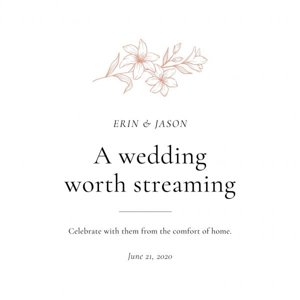 COVID WEDDING Postponement Streaming Annoucement