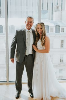 Father of the bride and daughter