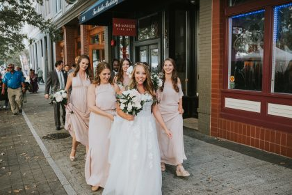 bridal party downtown Raleigh, NC