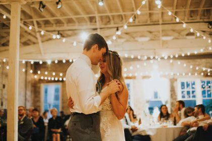 First Dance with market lights